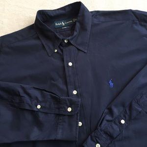 Ralph Lauren Blake Navy Button Down Shirt